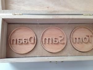 Koekstempel set 3 stuks in kist